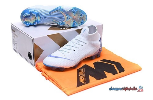 Nike Mercurial Superfly VI 360 Elite FG Blanc Bleu