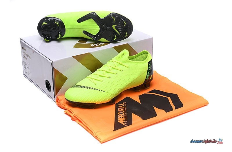Nike Mercurial Superfly VI 360 Elite FG Noir Jaune