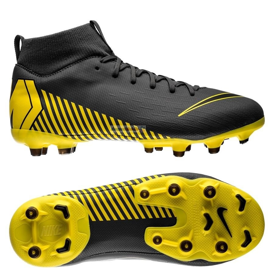 Nike Mercurial Superfly 6 Academy Enfant MG Game Over Noir Jaune