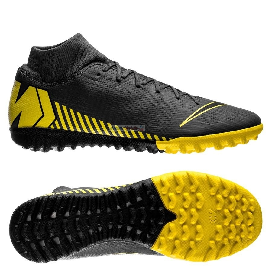 Nike Mercurial Superfly 6 Academy Enfant TF Game Over Noir Jaune