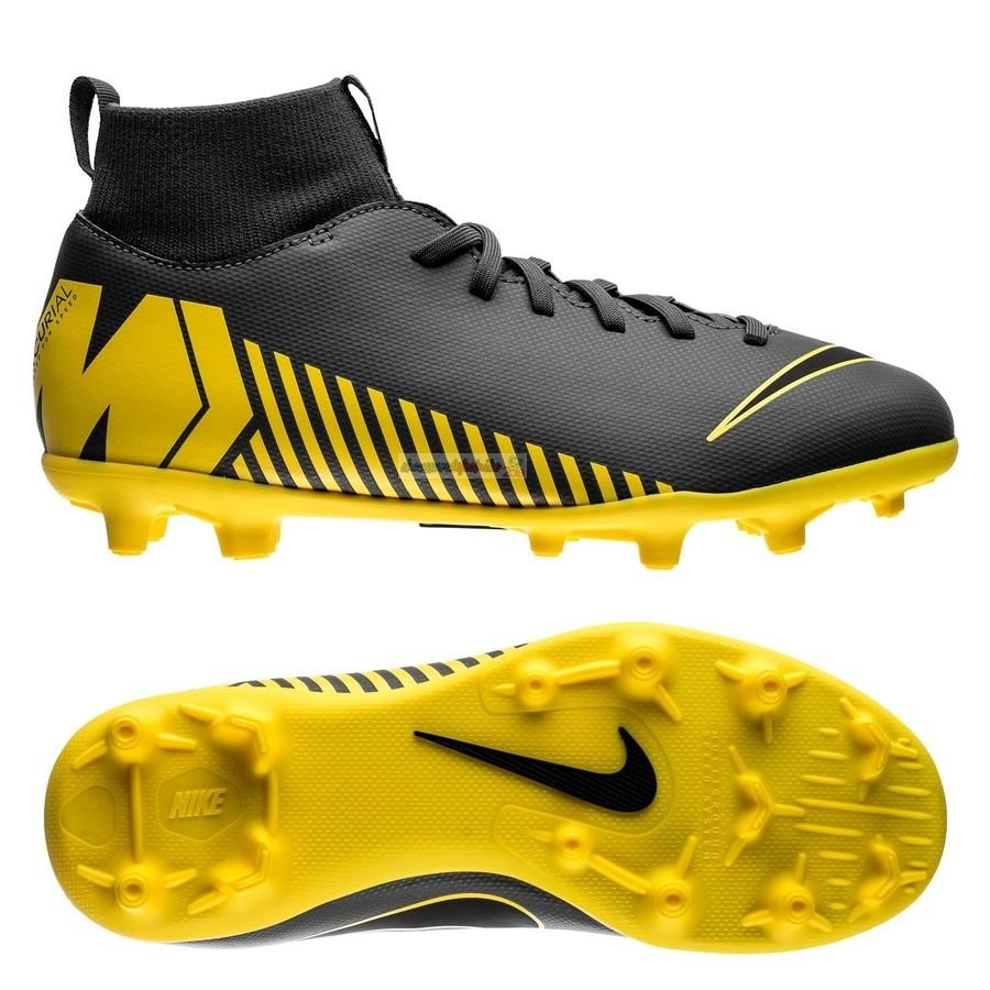 Nike Mercurial Superfly 6 Club Enfant MG Game Over Gris Jaune
