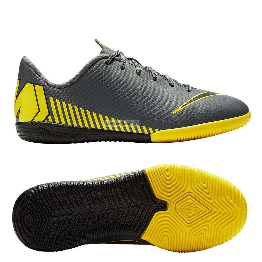 Nike Mercurial Vapor XII Academy Enfant IC Game Over Gris Jaune