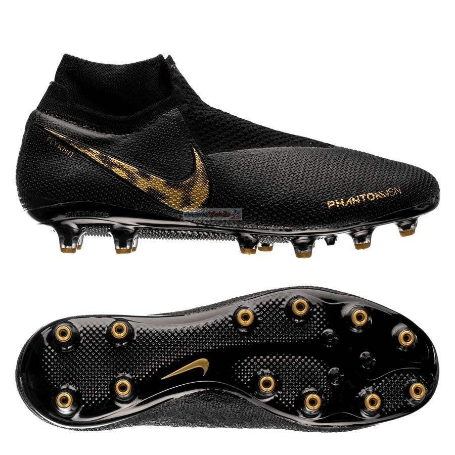 Nike Phantom Vision Elite DF AG PRO Black Lux Noir Or