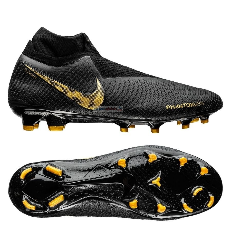 Nike Phantom Vision Elite DF FG Black Lux Noir Or