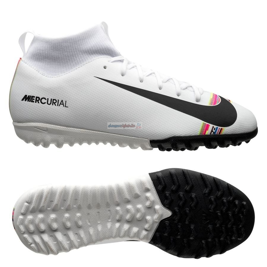 Nike Mercurial Superfly 6 Academy Enfants TF LVL UP Blanc