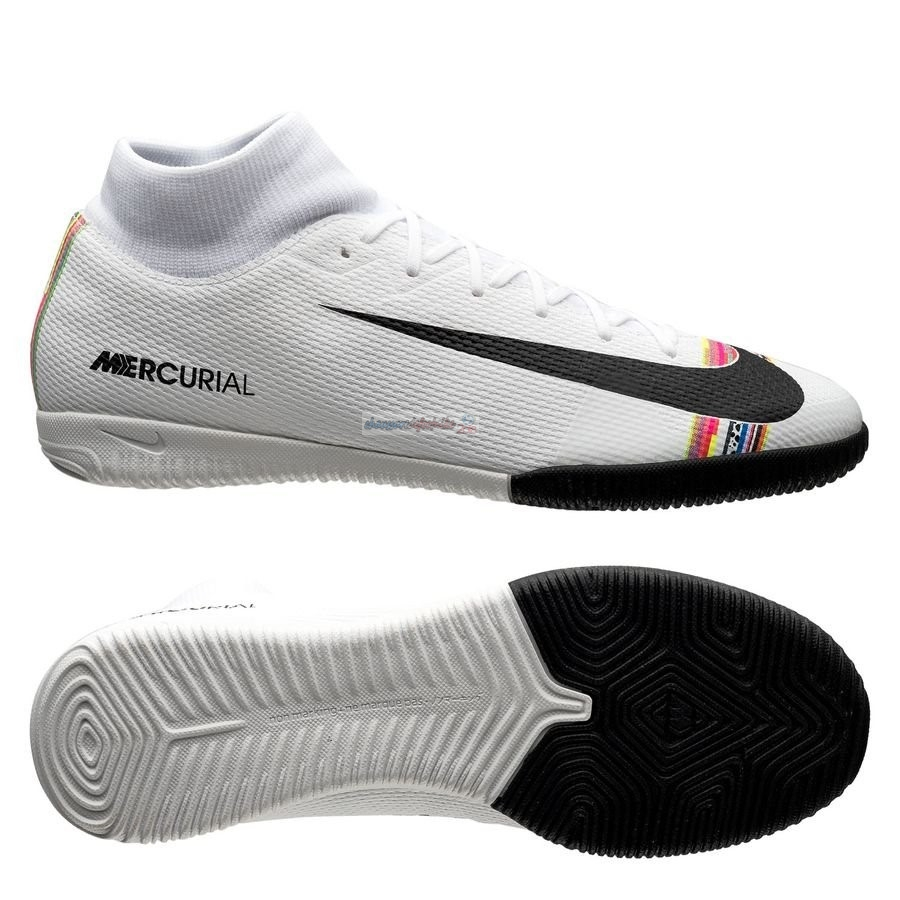 Nike Mercurial Superfly 6 Academy IC LVL UP Blanc