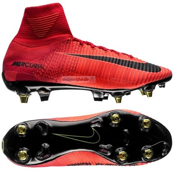 Nike Mercurial Superfly SG Pro Anti Clog Rouge