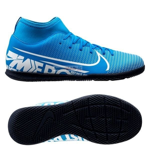 Nike Mercurial Superfly 7 Club IC Bleu Noir