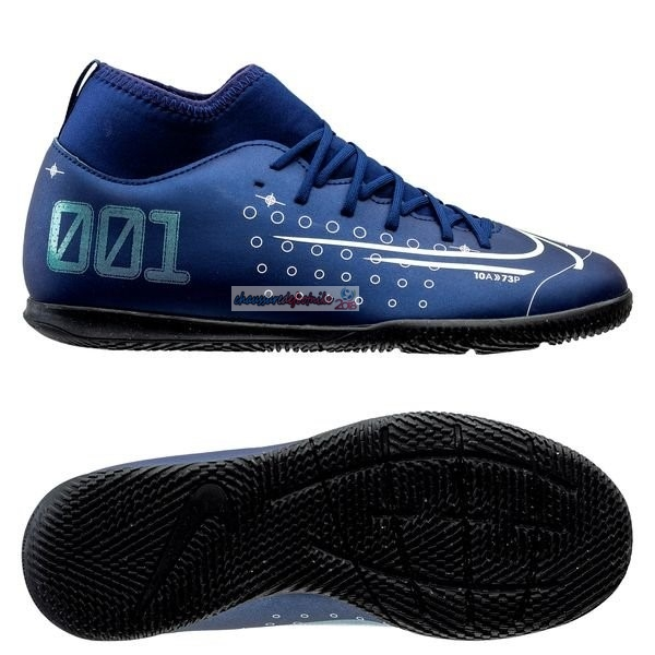Nike Mercurial Superfly 7 Club Enfant IC Bleu
