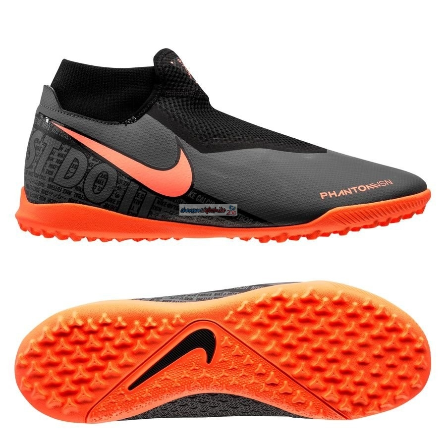 Nike Phantom Vision Academy DF TF Fire Noir Orange