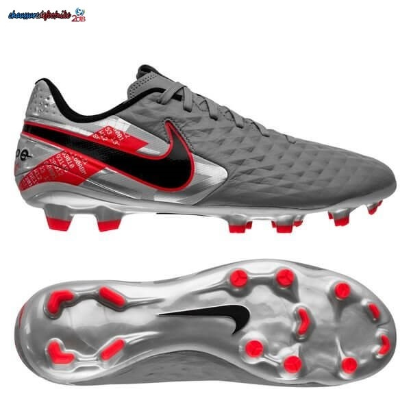 Nike Tiempo Legend 8 Academy MG Neighbourhood Métallique Gris Noir