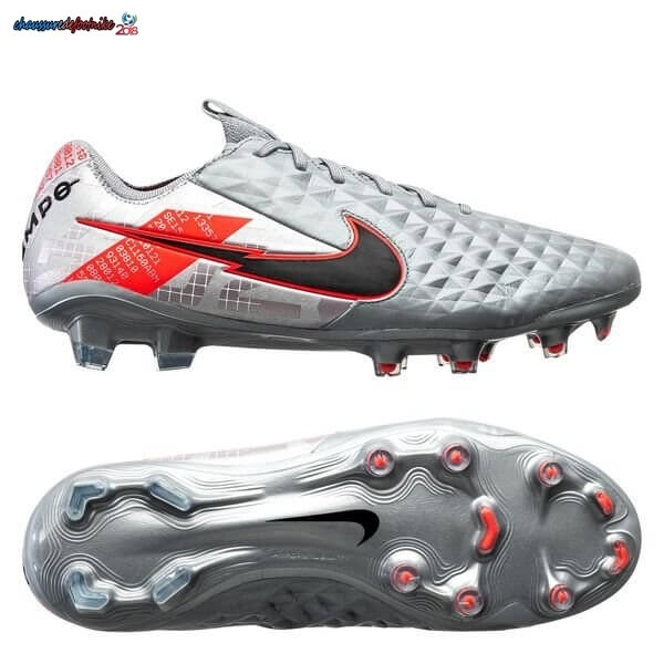 Nike Tiempo Legend 8 Elite FG Neighbourhood Métallique Gris Noir