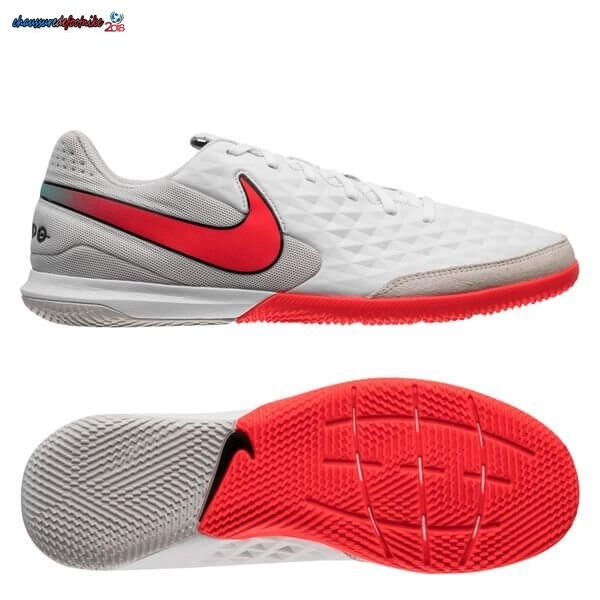 Nike Tiempo Legend 8 Academy IC Flash Crimson Blanc