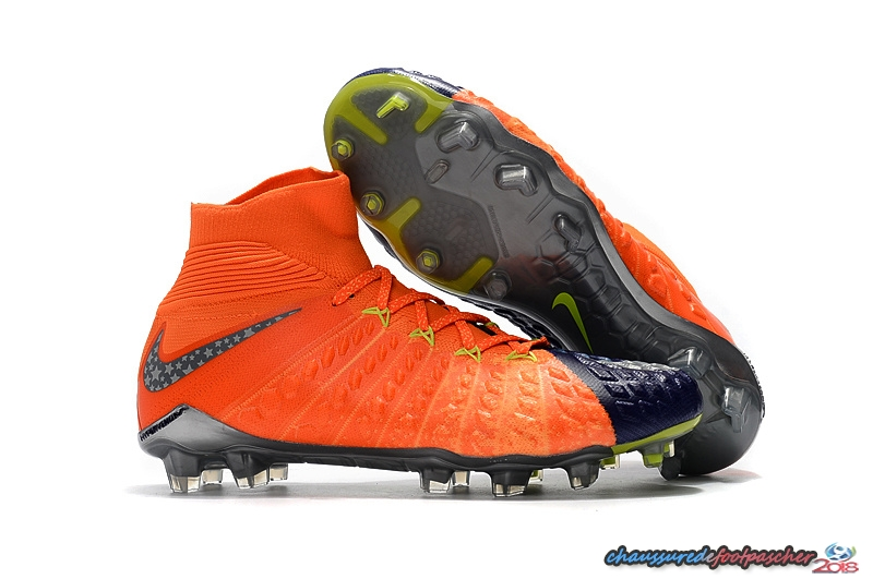 NIke Hypervenom Phantom III DF FG Orange Pourpre