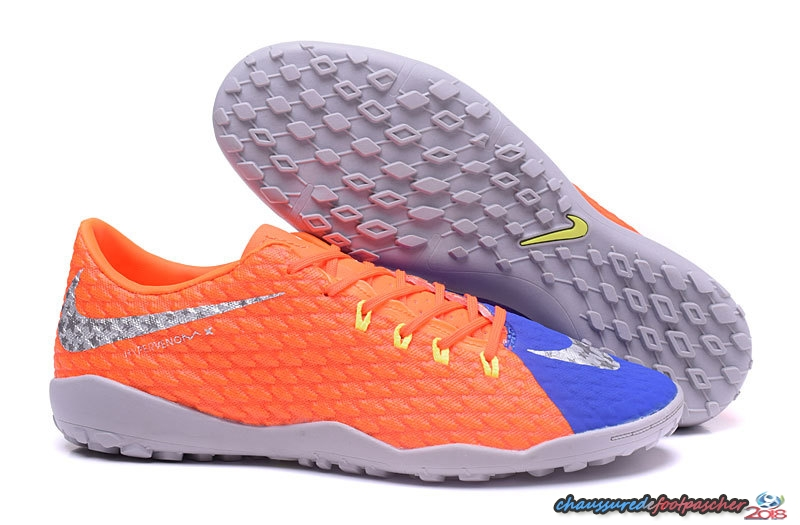 NIke Hypervenom Phelon III TF Orange Bleu