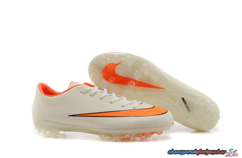 Nike Mercurial X Vapor AG Blanc Orange