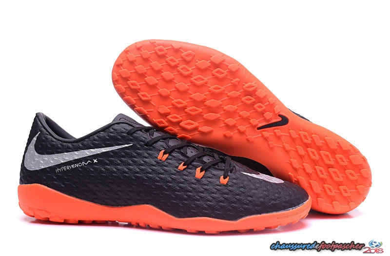 NIke Hypervenom Phelon III TF Noir Blanc Orange