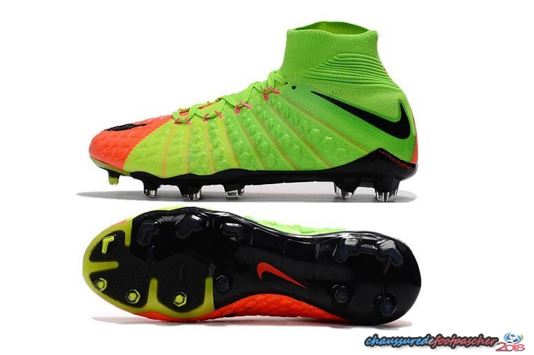 NIke Hypervenom Phantom III DF FG Vert Orange