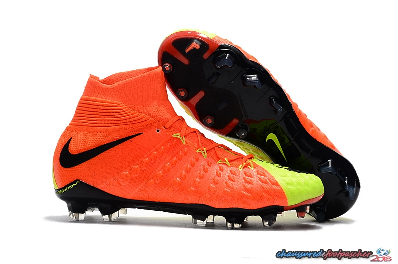 NIke Hypervenom Phantom III DF FG Fluorescent Orange
