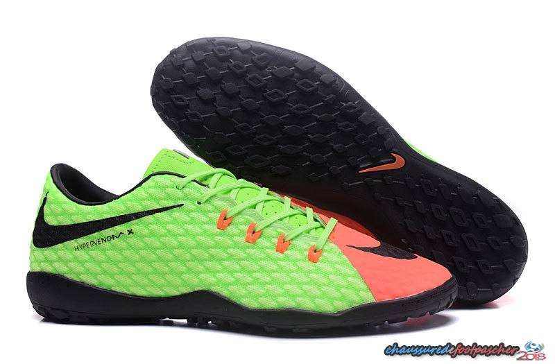 NIke Hypervenom Phelon III TF Fluorescent Orange Noir