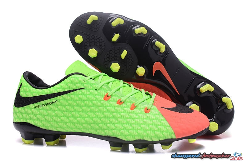NIke Hypervenom Phelon III FG Fluorescent Orange