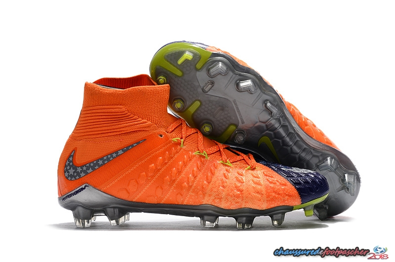 NIke Hypervenom Phantom III DF FG Orange Pourpre Jaune