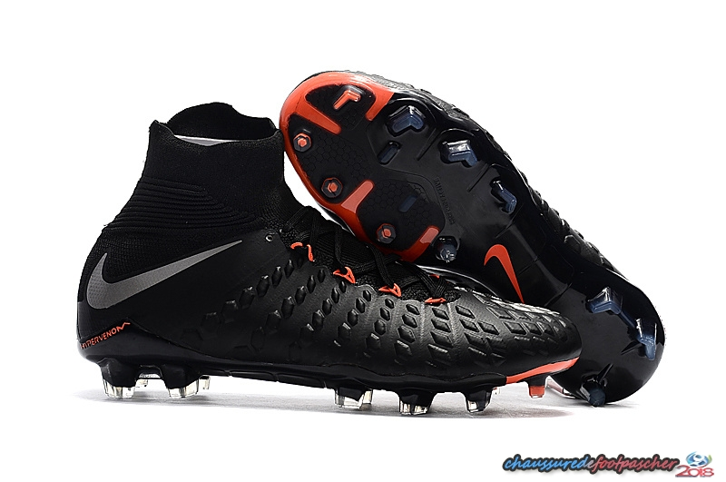 NIke Hypervenom Phantom III DF FG Noir Orange