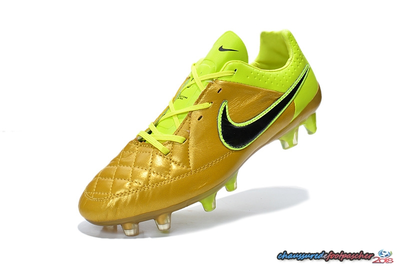 reputable site d62a6 2517d Nike Tiempo Legend V FG Vert Fluorescent Or