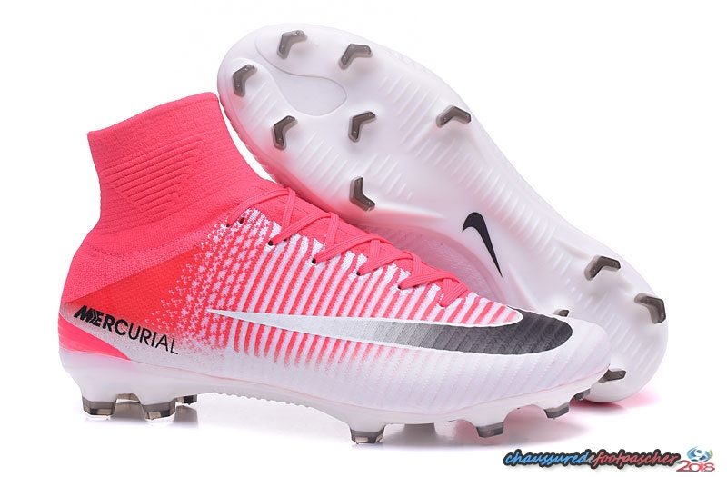 new style ad235 82890 Nike Mercurial Superfly V FG Blanc Noir Rouge