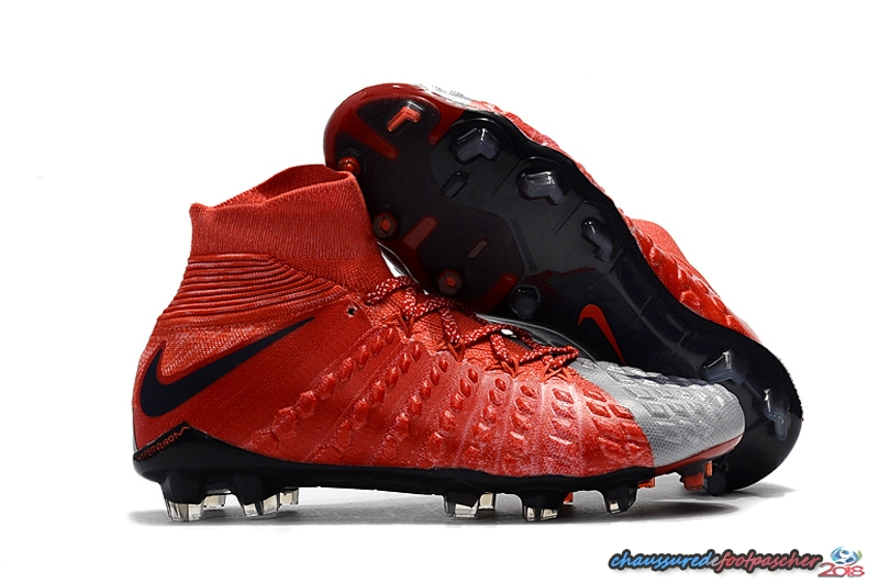 NIke Hypervenom Phantom III DF FG Rouge Gris Noir Orange