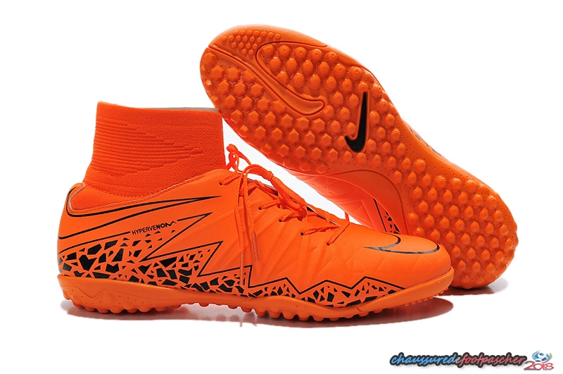 Nike HyperVenom Alto TF Orange Noir