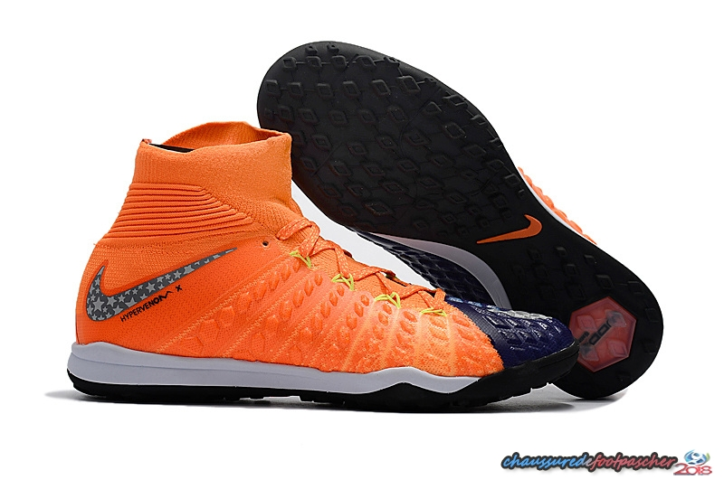 NIke Hypervenom Phantom III DF TF Orange Pourpre
